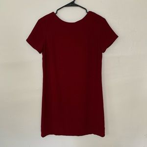 Lulus Wine Shift Dress